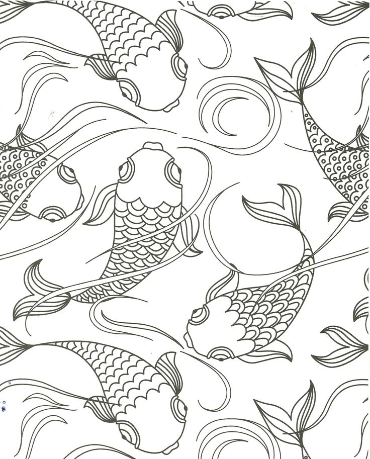 Koi pond fish coloring page Fish coloring page, Animal
