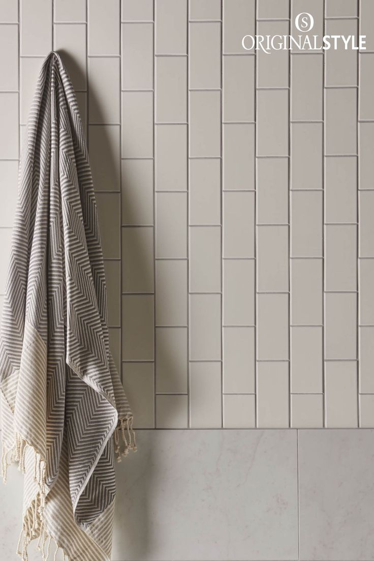 Wall tiles by Original Style, Artworks Range, Vintage White Half Tile. Use these warm Vintage White classic half tiles for a crisp, clean look in bathrooms and kitchens.