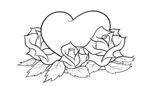 bildergebnis für rosen zum ausmalen   zeichnungen von herzen, rosenzeichnungen, blumenzeichnung