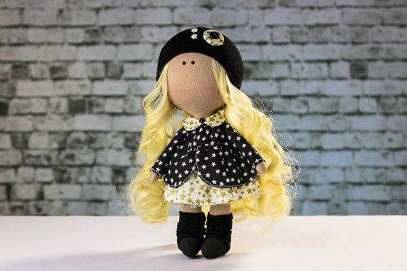 Doll Emma. Tilda doll. Stellar girl Star doll Textile by OwlsUa