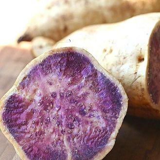 Mashed Okinawan Sweet Potatoes Ingredients: 3 lbs. Okinawan sweet potatoes 1 can of coconut milk cinnamon powder to taste salt to taste