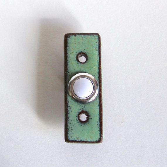 Rectangle Doorbell Plate Cover with Standard by BackBayPottery