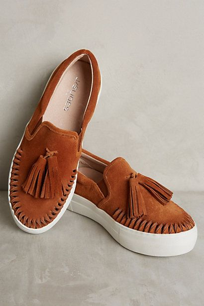 J/Slides Fringe Kiltie Sneakers #anthropologie