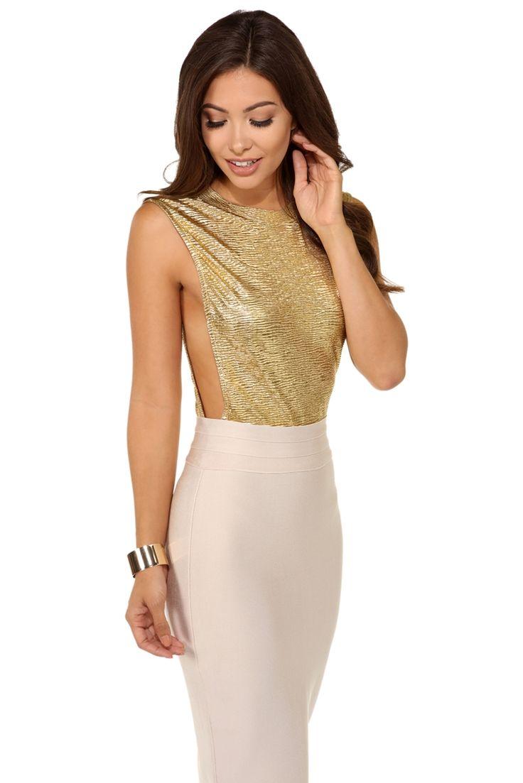 Gold Metallic Taste Bodysuit | WindsorCloud