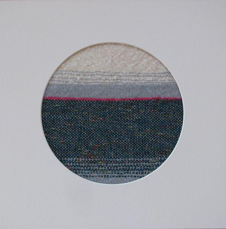 """Pink Horizon"" framed hand woven landscape | Felt"