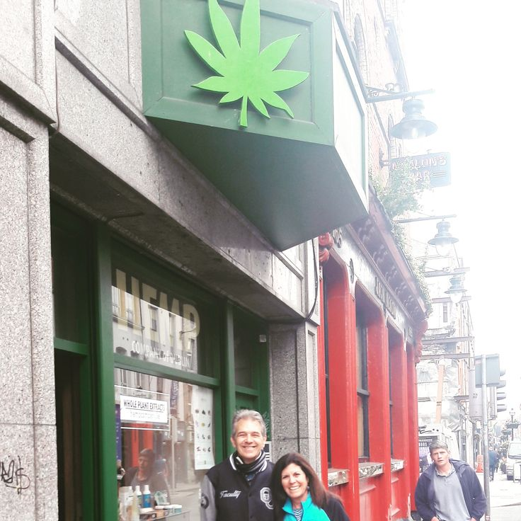 Chris Conrad And Mikki Norris Outside The Hemp Company In Dublin Ahead Of Their Upcoming