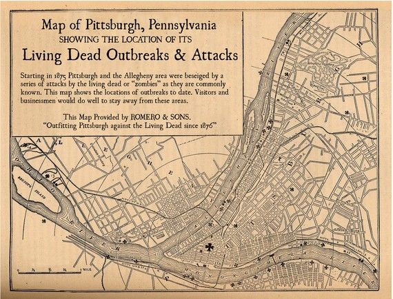 Pittsburgh Living Dead Outbreaks & Attacks since 1876