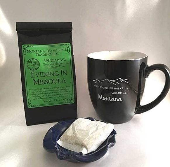 The perfect gift set for the tea lover in your life. Shop online or at High Country Gifts & Engraving in Bozeman. https://highcountrygifts.com/evening-in-missoula-tea-6-pack.html