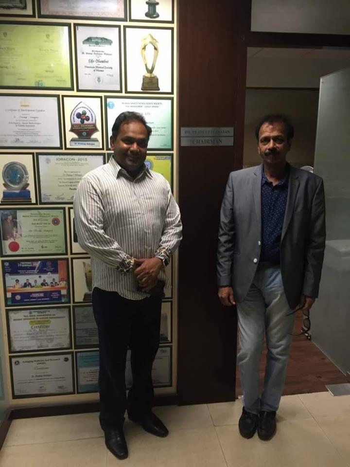 """It's always pleasure to host world class leaders of Regenerative Medicine"" Dr. Chandan K Sen, Director, Regenerative Medicine, Ohio State University visits StemRx."