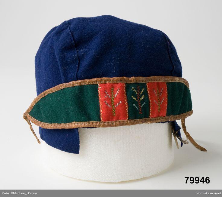 Samisk pojkmössa Frostviken. Inköpt 1895 Saami boy hat Frostviken, Sweden bought in 1895
