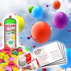 Luftballons mit Helium für die Hochzeit