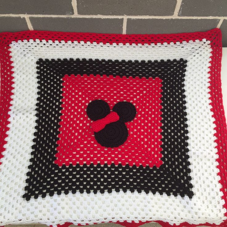A personal favourite from my Etsy shop https://www.etsy.com/au/listing/215621041/minnie-mouse-crochet-blanketpram-blanket