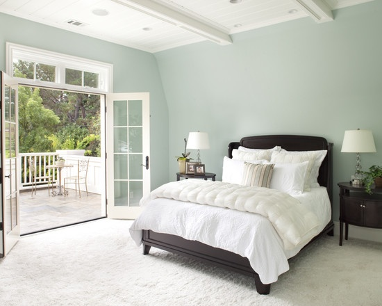 Wall color - Ben Moore Woodlawn Blue  A blue that doesn't make me want to puke! :)