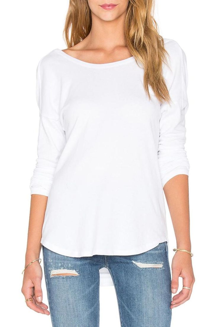 Beautiful soft feeling long sleeve top with cowl top. Very elegant. Pair with your favourite jeans and accessorize with jewelry. Comfortable, cozy and elegant all in 1.   Cowl Back Jersey  by James Perse. Clothing - Tops - Long Sleeve Toronto, Canada