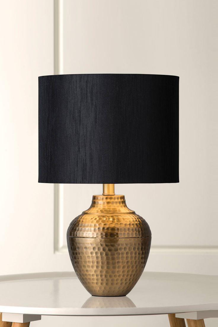 1126 Pavi Hand Beaten Brass Table Lamp
