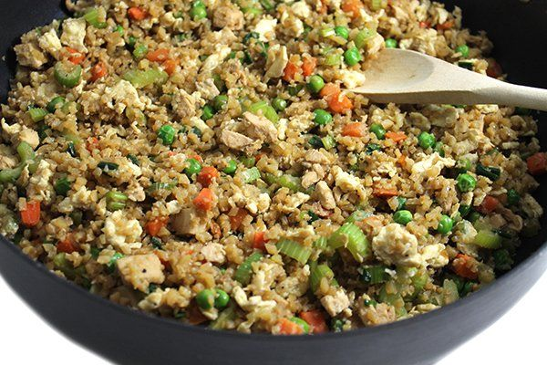 3 SP  Amazing Skinny Chicken Fried Cauliflower Rice with Weight Watchers Points | Skinny Kitchen