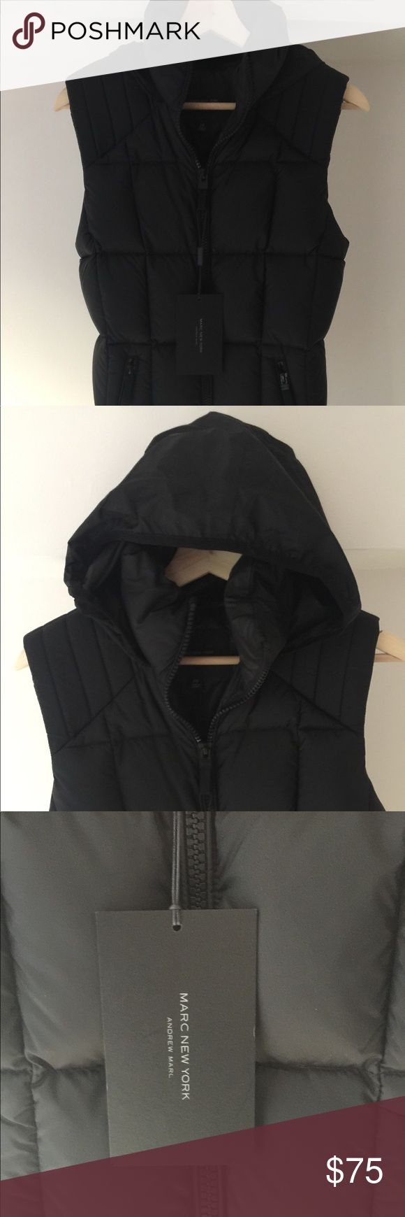 Marc New York by Andrew Women's Mikaela, NWT Brand New With Tags SOLD OUT Marc New York 'Mikayla' Vest, XS, Black  Purchased from Bloomingdales September 2017 Purchased for US$130 & Tax Marc New York Jackets & Coats Vests