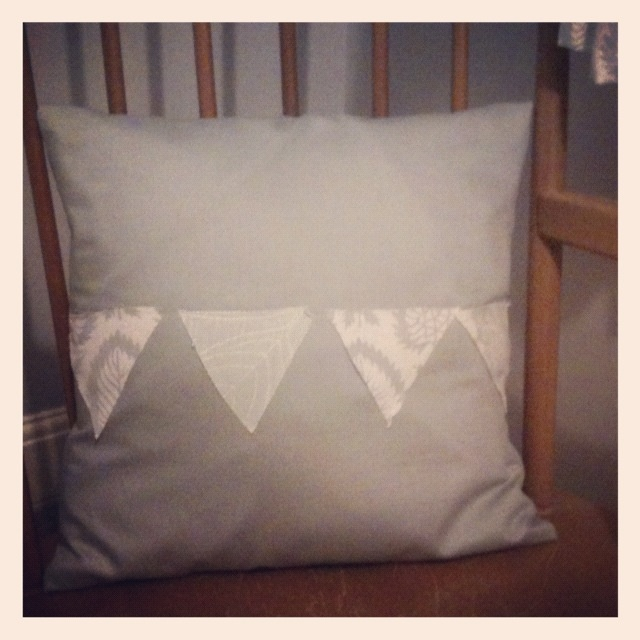 Bunting cushion inspired by a pin I spotted a while ago