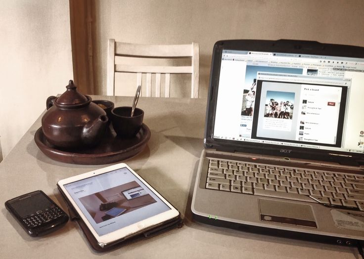 Old laptop, old Blackberry, old Ipad, and a cup of old-inherited tea recipee    //tea, blackberry , phone, laptop, vintage, classic//