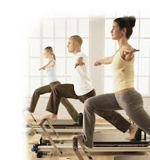Test your balance on the Stott Pilates Reformer!