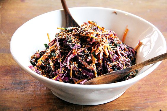 """""""a riot of umami,"""" - any number of vinegars could work in place of the ume and rice vinegars, and using one of the three seaweeds is just fine, etc."""