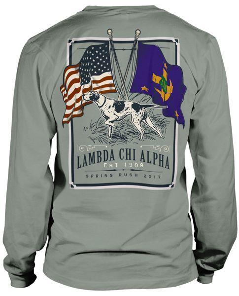 Lambda Chi Alpha Flag Rush T-shirt | MetroGreek Fraternity T-shirt | Lambda Chi T-shirt| Greek Life | Fraternity Life