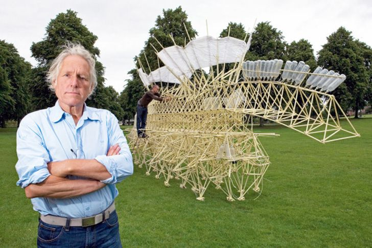 Dutch sculptor Theo Jansen creates huge kinetic art pieces that propel themselves via wind power. Imagine seeing some of these walking along the beach!