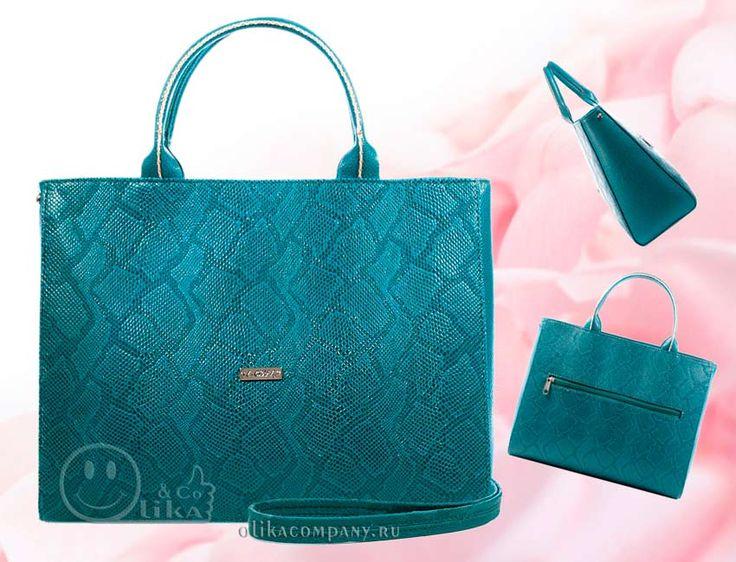 Женская сумка 1286-5 змея бирюзовая перламутр, размеры 32*13*25 см 2000 руб #сумки #сумка #клатч #мода #2017