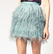 Feather skirt! I have one in black!:)