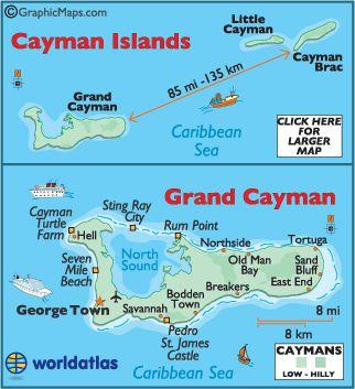 Cayman Islands, Cayman Islands Map, Grand Cayman, Little Cayman ...