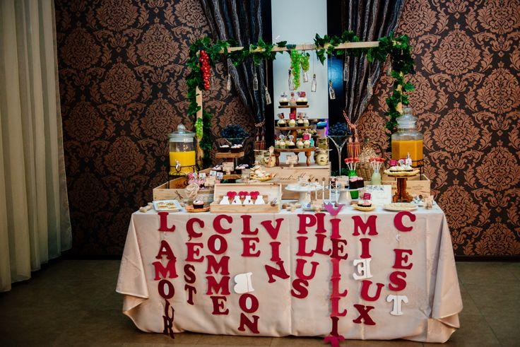 Wine themed Dessert Table