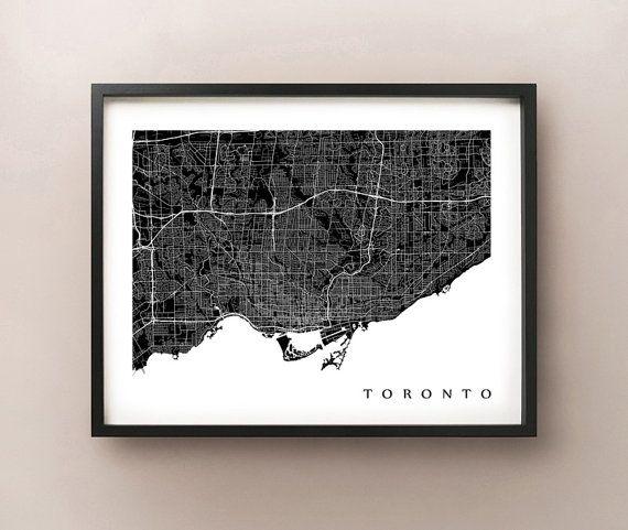 Toronto Map Print by CartoCreative on Etsy