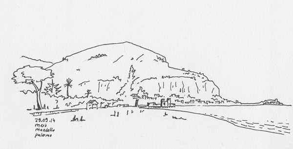 Another sketch from my sketchbook in the draweling album. The Best part of Palermo was definitely the Beach of Mondello | Spiaggia di Mondello, Sicilia, Italia | 2014