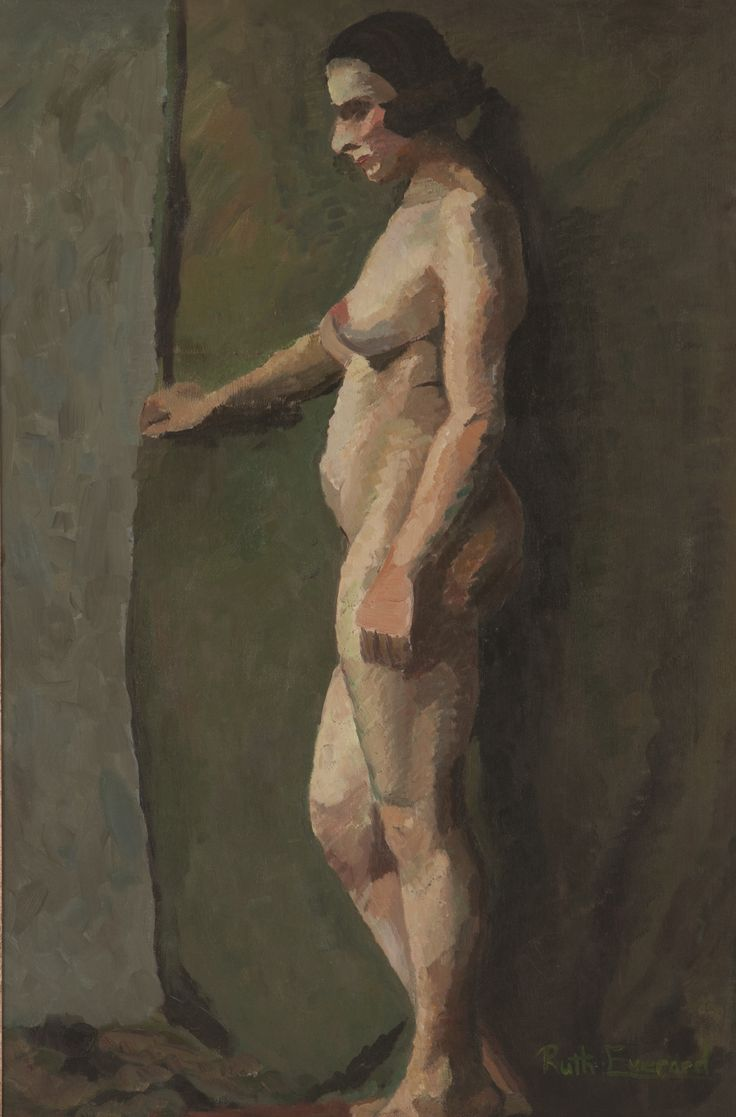 Ruth Everard-Haden (South African 1904 - 1992) STANDING NUDE signed; oil on canvas; 88 by 58cm