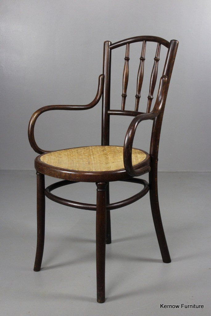 Antique Bentwood Cafe Chairs By Fischel Original 1900s Thonet