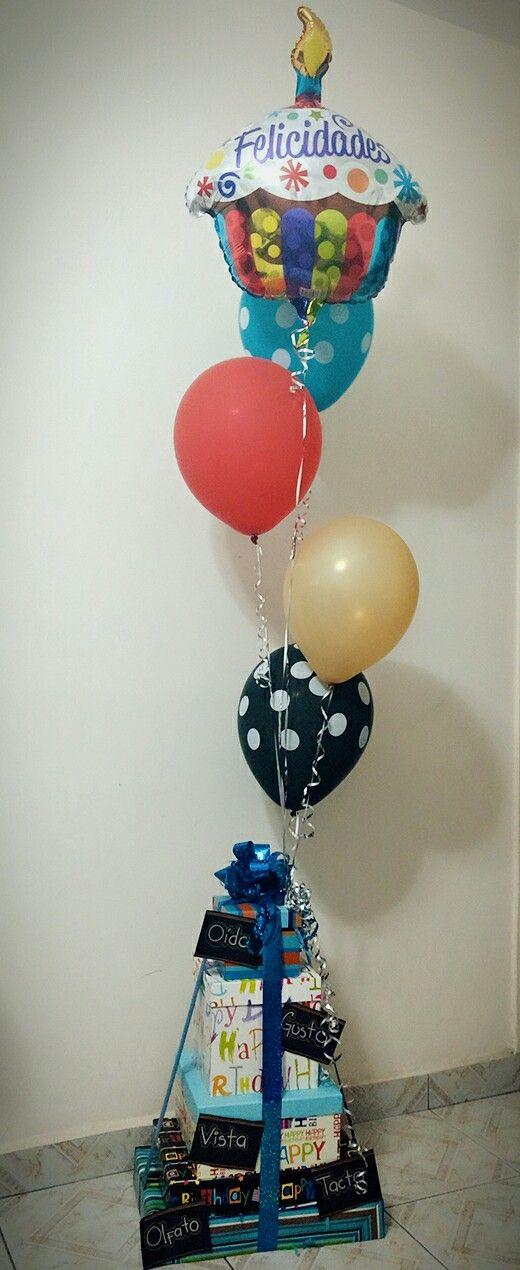 5 sentidos, regalo, cumpleaños, globos, ideas