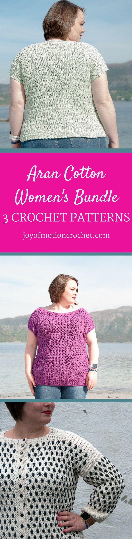 212 best etsy crochet patterns from joy of motion on etsy images aran cotton womens bundle easy intermediate crochet patterns bankloansurffo Choice Image