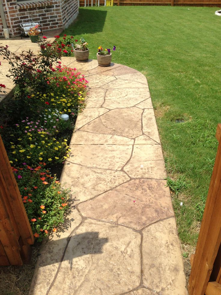 31 best images about stamped concrete on pinterest - Stamped concrete walkway ideas ...
