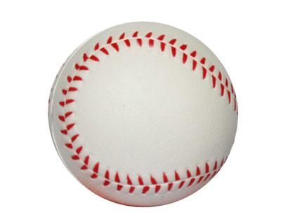 STRESS BASEBALL – S15  Price includes 1 color, 1 position print   2 Color imprint available for an additional charge  Decoration option: Pad print  Print Area: 30mm (D)  Product Size: 63mm (D)