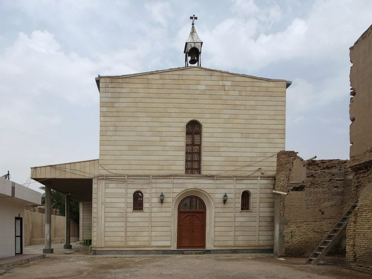 The Armenian Church in Basra, Iraq, dates from 1736 but has been rebuilt three times. The portrait of the Virgin Mary in the church was brought from India in 1882.