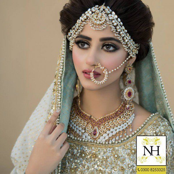 bridal photoshoot Sajal Ali Pakistani couture