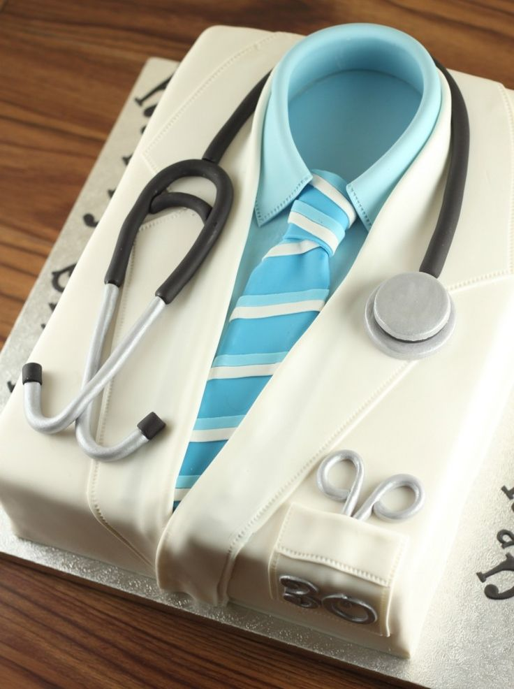 Doctor Lab Coat Cake   Lil Miss Cakes
