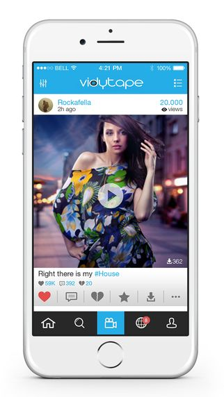Share videos online by vidytape app