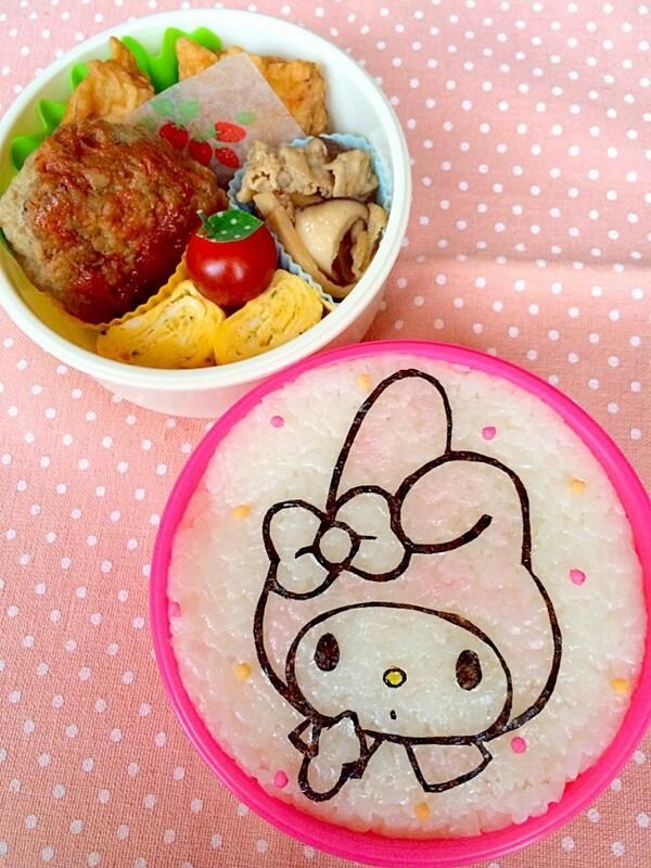 lunch club activities posted from @ namimocchi today.  Maimero chan.  # Obentoart # obento # # character valve Maimero