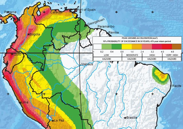Hazard Map On Pinterest Earthquake Fault Lines California - Seismic map of us