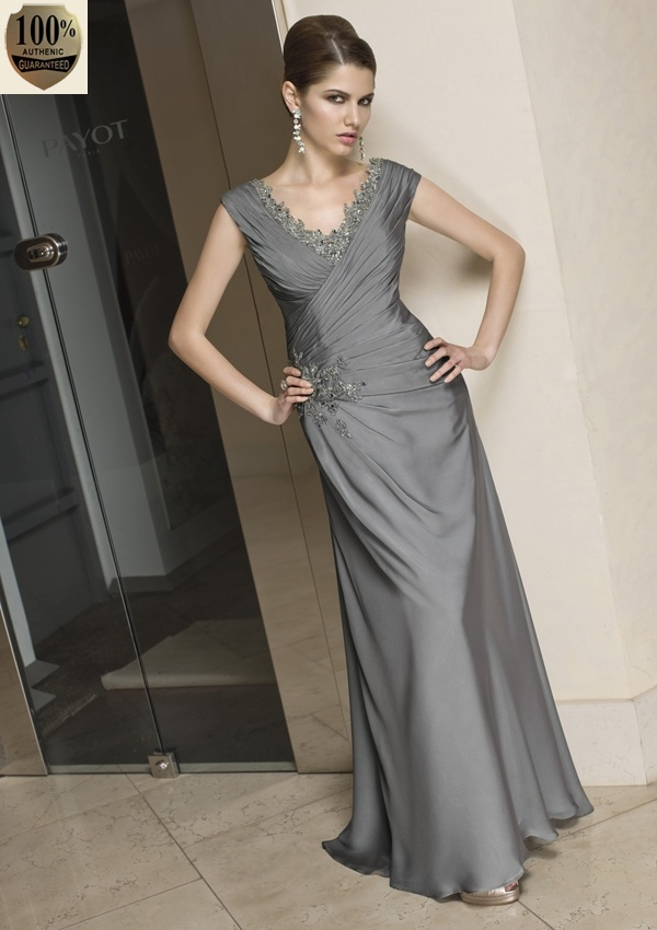 """For anyone looking for modest bridesmaids dresses, do a Pinterest search for """"mother of the bride.""""  There are a lot of gorgeous dresses that could work as bridesmaid dresses like this one!"""