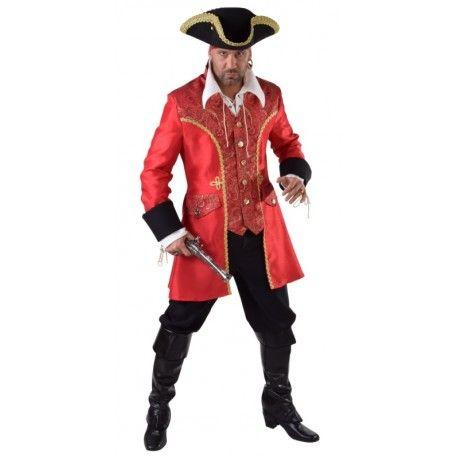 Déguisement capitaine crochet pirate homme luxe