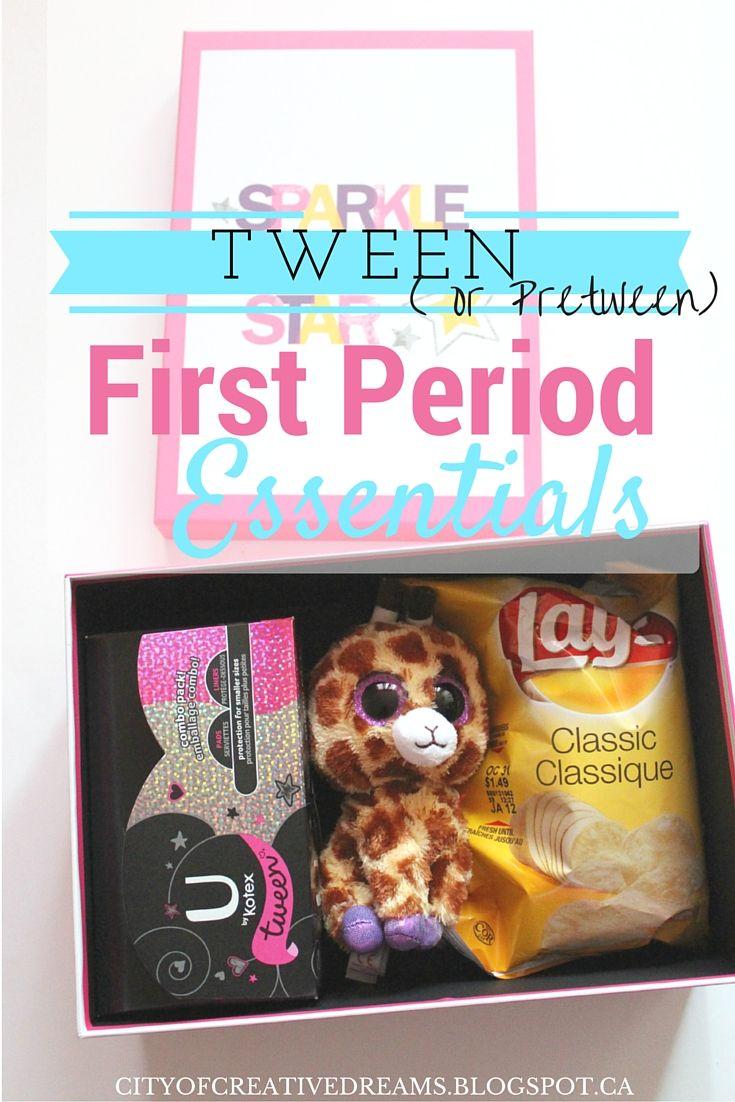 Tween (or Pretween) First Period Essentials http://cityofcreativedreams.blogspot.ca/2015/11/tween-or-pretween-first-period.html