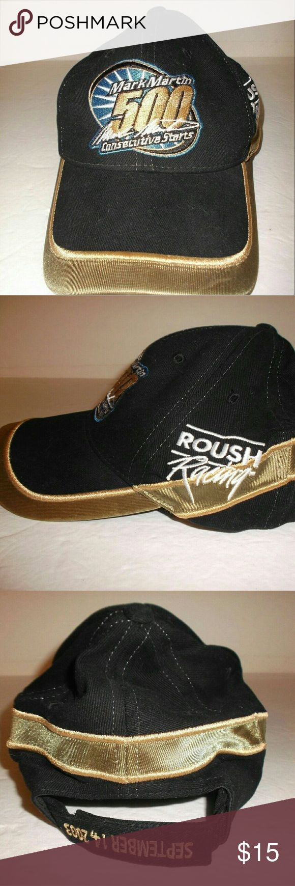 Mark Martin NASCAR # 6 Roush Racing Baseball Cap A sharp looking cap by Team Caliber.    The back of the cap is dated September 14, 2003.   Velcro adjustment in back.   Great condition,  stored but never worn Team Caliber Accessories Hats