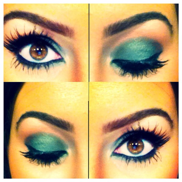 Green eyeshadow - xXx